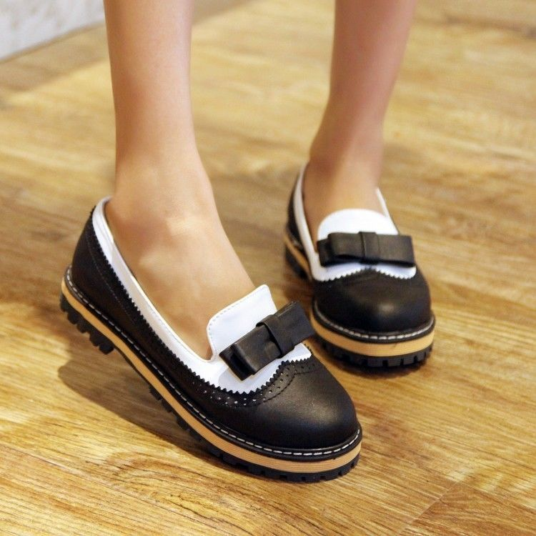 Hot Cute Sweet Stylish Ladies Flats Bowknot Casual Slip On Loafer Oxfords Shoes