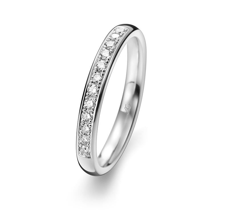 Eheringe gold mit 3 diamanten  Trauring 29730/3, Ehering 29730/3 gelbgold,palladium 950,platin ...