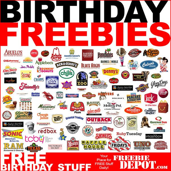 Delightful Free Birthday Stuff  Lots Of Websites That Offer Free Stuff On Your Birthday !