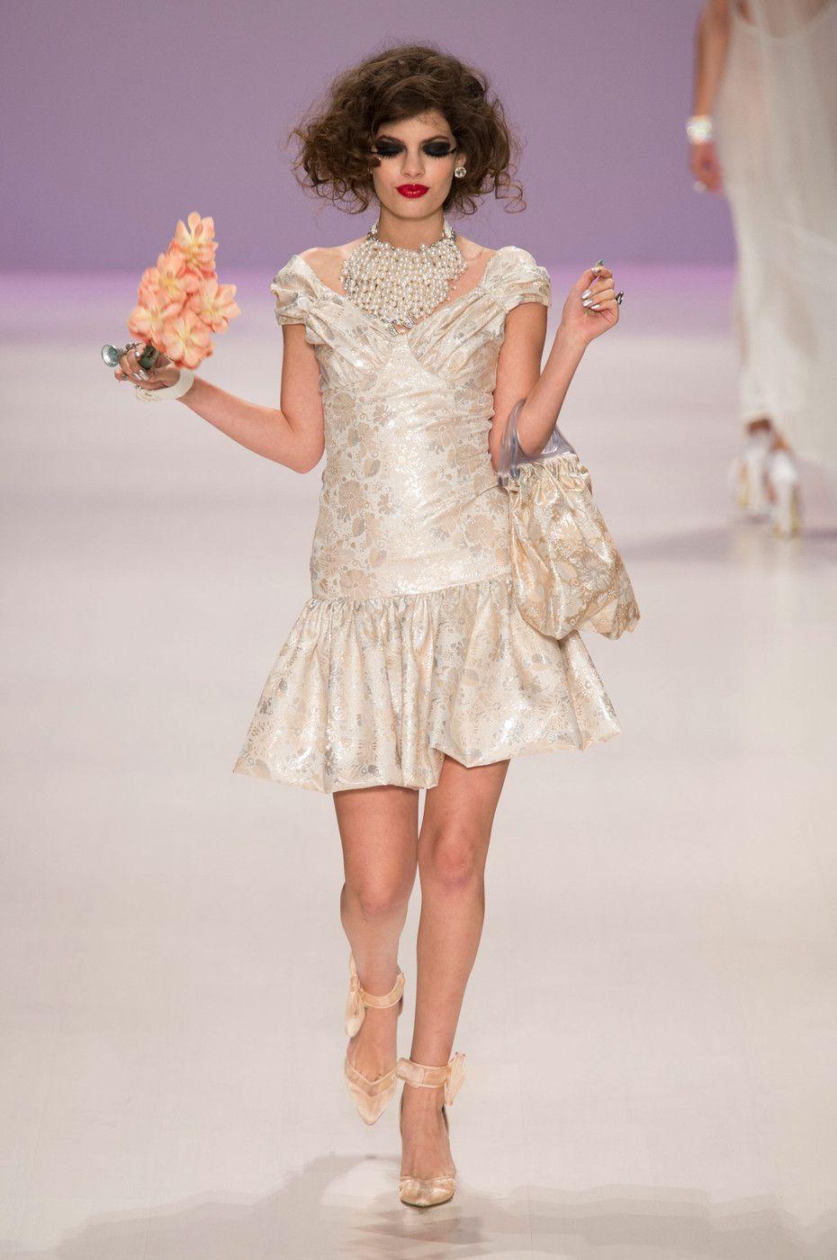 Betsey johnson wedding dresses  Betsey Johnson at New York Fashion Week Spring   Betsey johnson