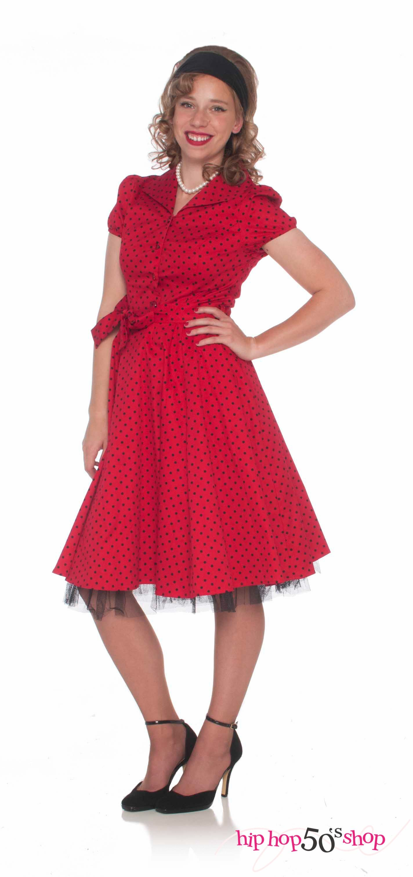 Rockabilly Short Sleeve Swing Dress Red Red Dress Vintage Dresses 50s Vintage Tea Party Dresses [ 3024 x 1424 Pixel ]