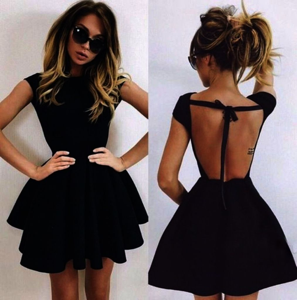 Short dress fitted dress black and white tight dresses cute