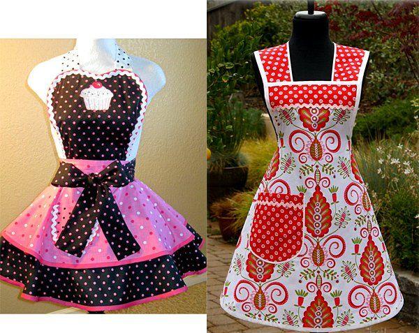 10 ideas para hacer mandiles originales patrones ropa for Mandiles de cocina originales