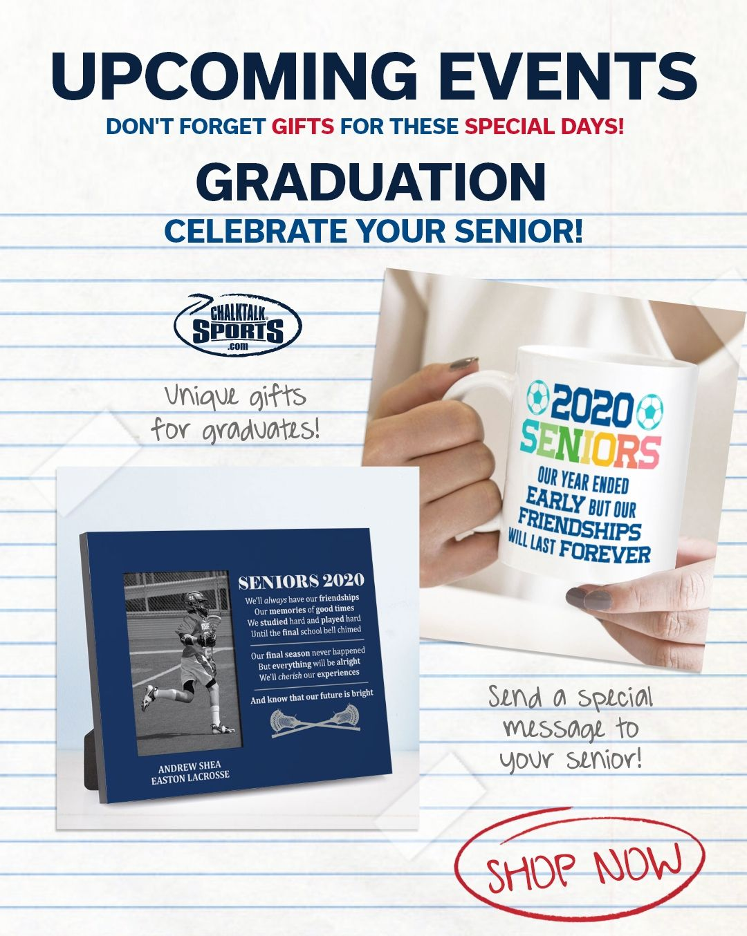 Celebrate Your Graduating Senior In 2020 Senior Gifts Sports Gifts Gifts