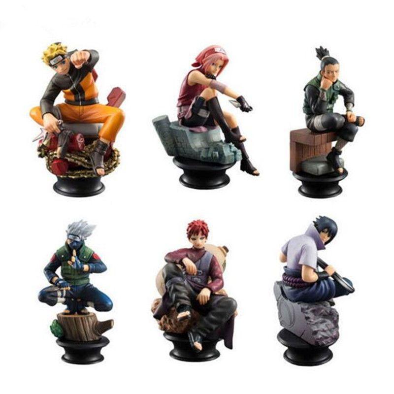 Lot of 6 figures naruto sasuke gaara toy collection
