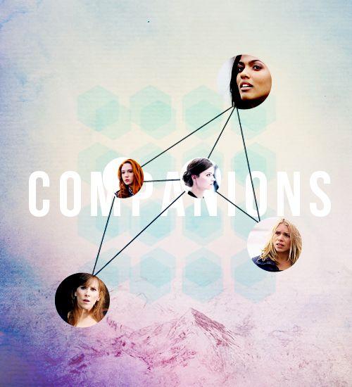 Rose Tyler, Martha Jones, Donna Noble, Amy pond, and Clara Oswin Oswald.