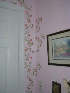 Flowering Vine Rub On Transfer Mural Wall Wall Painting