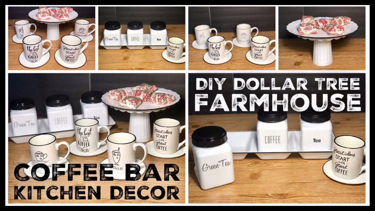 Dollar Tree Diy Farmhouse Kitchen Decor Enamel Coffee Bar Rae