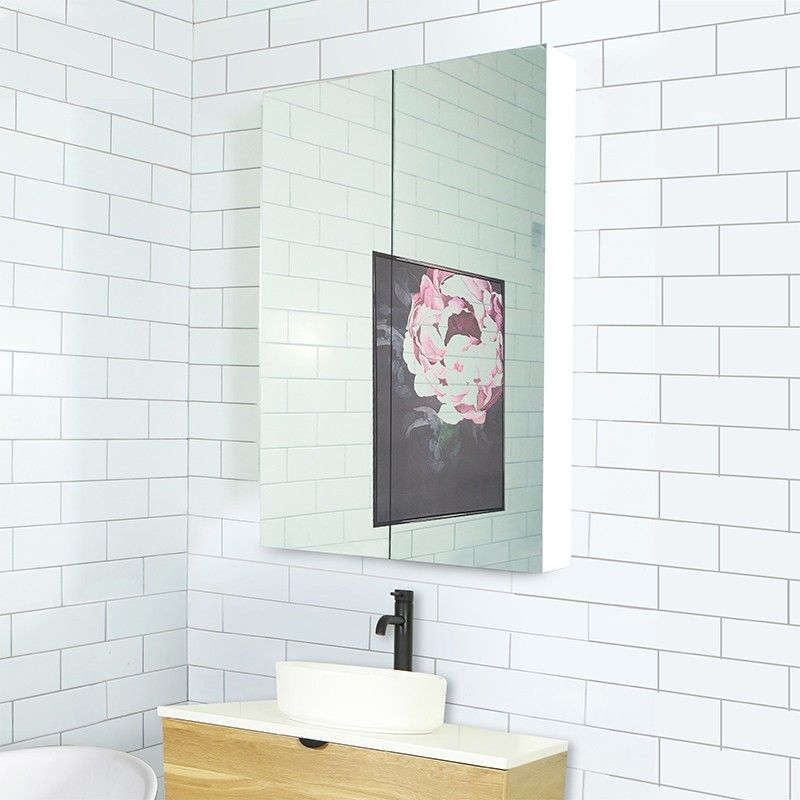 Osca Ceiling Height White Mirrored Cabinet 900mm | Bathroom ...
