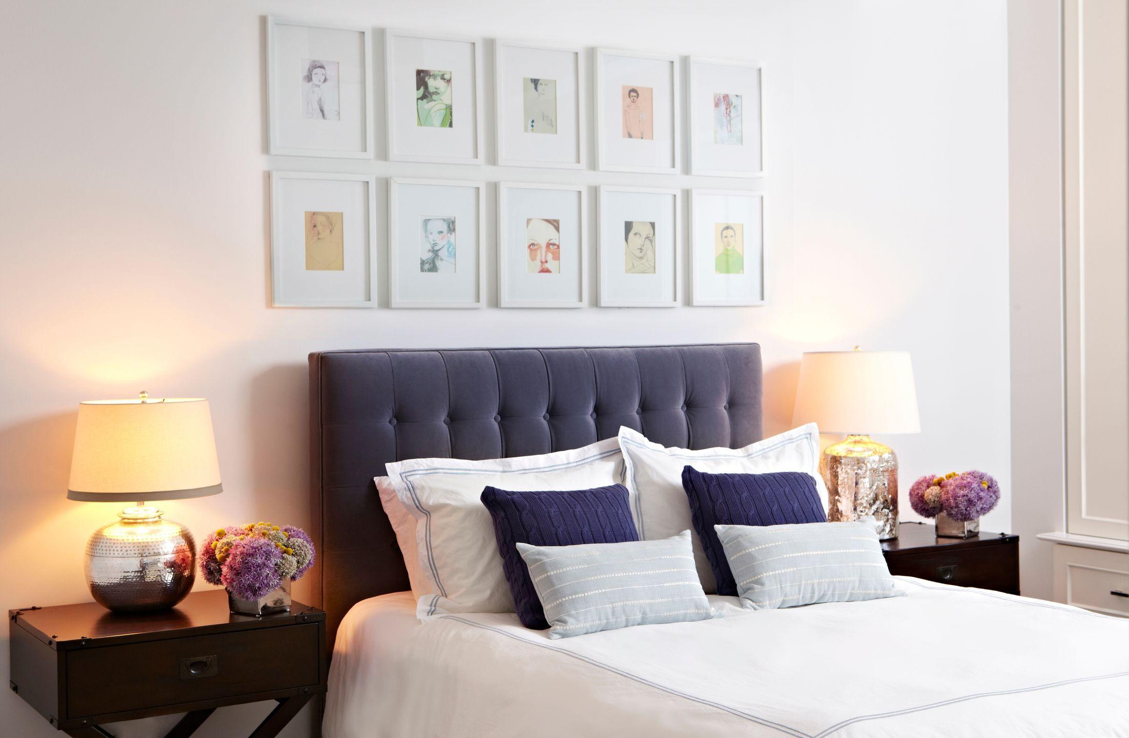 Master bedroom headboard design ideas   Central Park West by Chango Co   Contemporary  Bedroom
