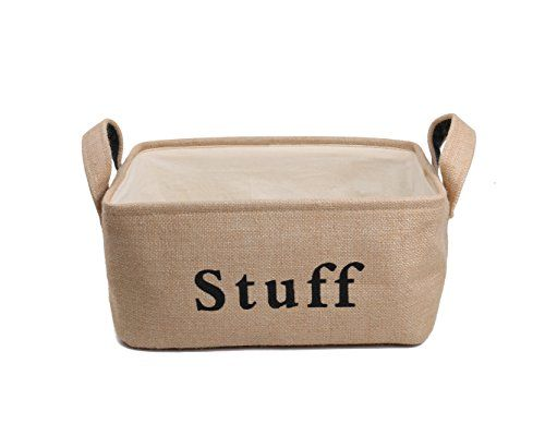[Toy Storage Ideas] MorisMos Home Canvas Linen Rectangle Foldable Storage  Organizer Baskets Bins With