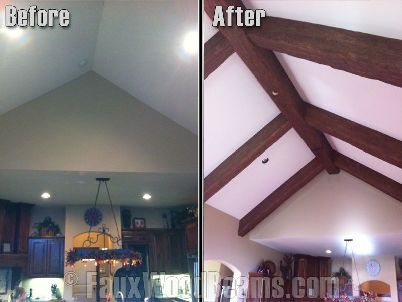 Wow Faux Ceiling Beams Make A Big Impact Wood Beams Faux Wood Beams Wood Beam Ceiling