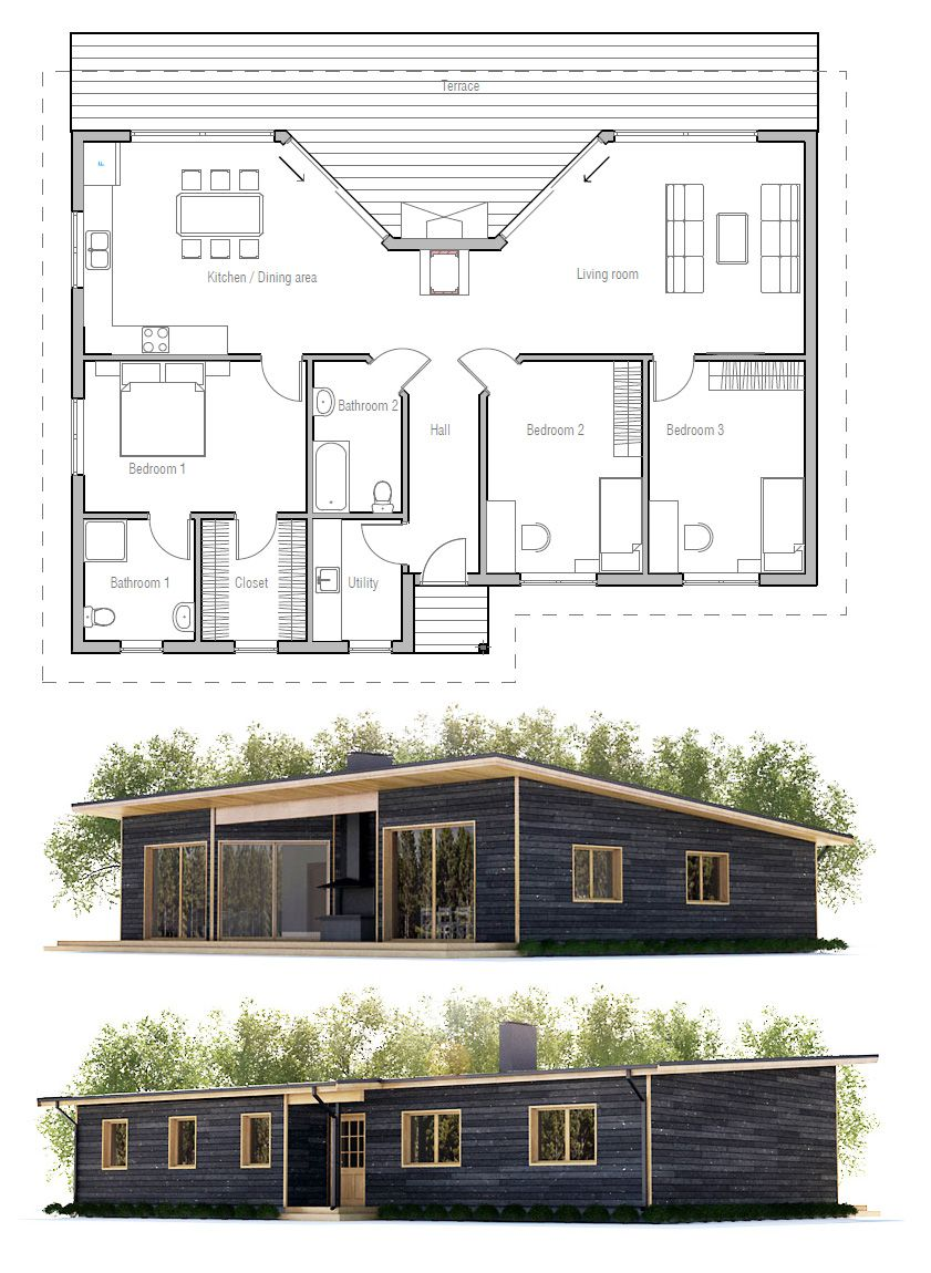 House Plan Ch61 Building A House Pod House House Plans
