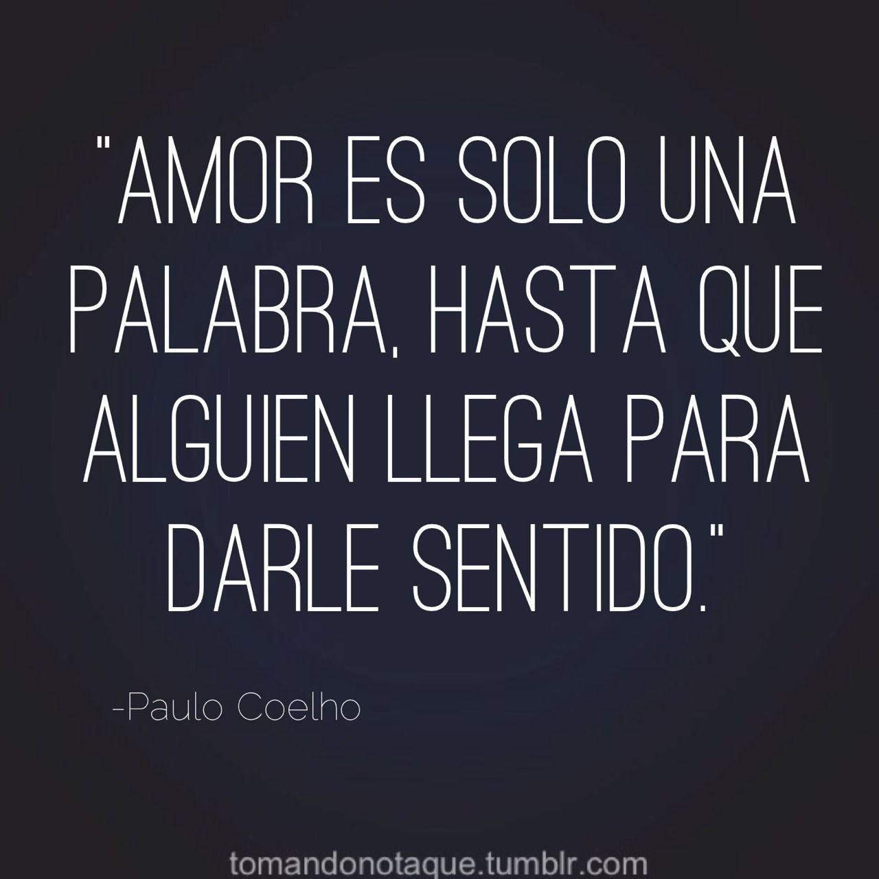 Frase celebre de amor de Paulo Coelho