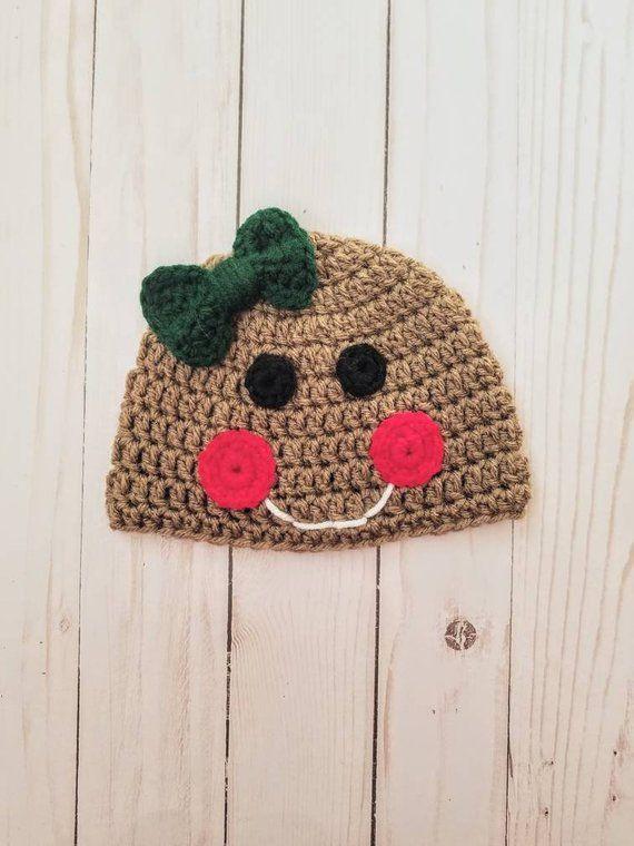 e865479ef3f Gingerbread Crochet Baby Hat