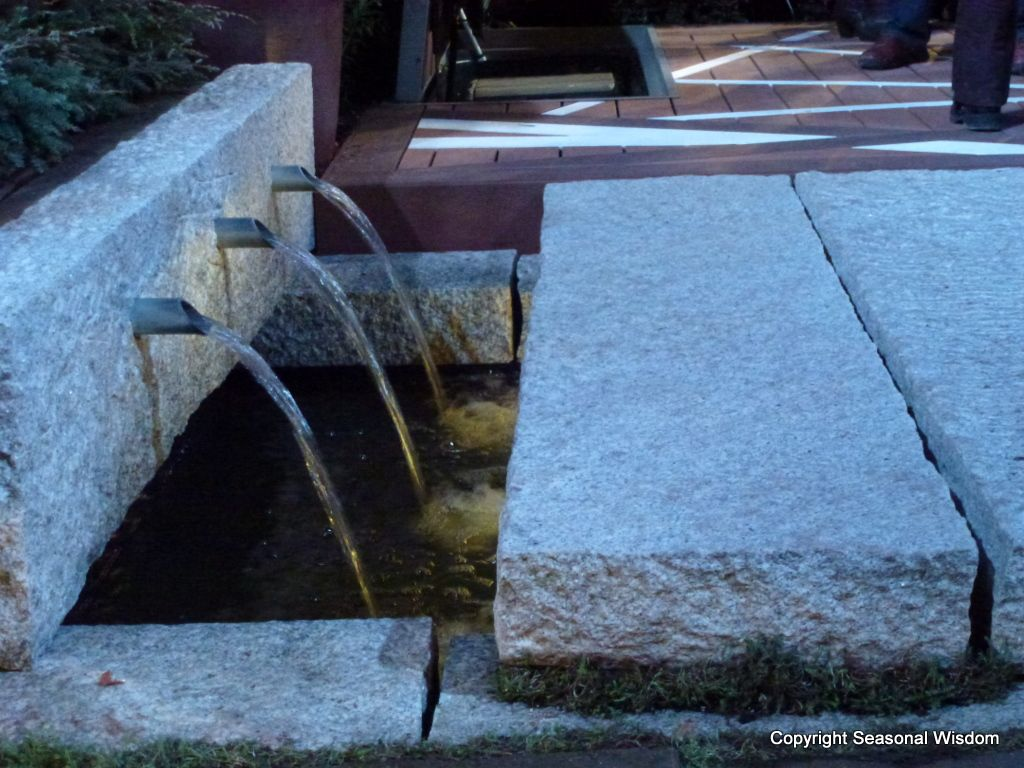 Three pipe fountain in floor garden by elements of nature at 2012 nwfgs water worlds - Decorative water spouts ...