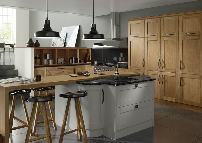 Looking For Madison Solid Oak Kitchen Cupboard Doors For Your New Kitchen We Have A Wide Selection Contemporary Kitchen Kitchens And Bedrooms Kitchens Direct
