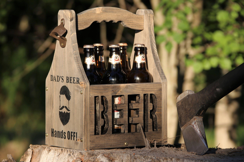Beer Carrier Beer Caddy Beer Box 6 Pack Holder Wood Beer Caddy Beer Tote Gift For Man Wooden Six Pack Father S Gift Father S Day Gift Beer Biertrager Geschenk Vater Bierkasten