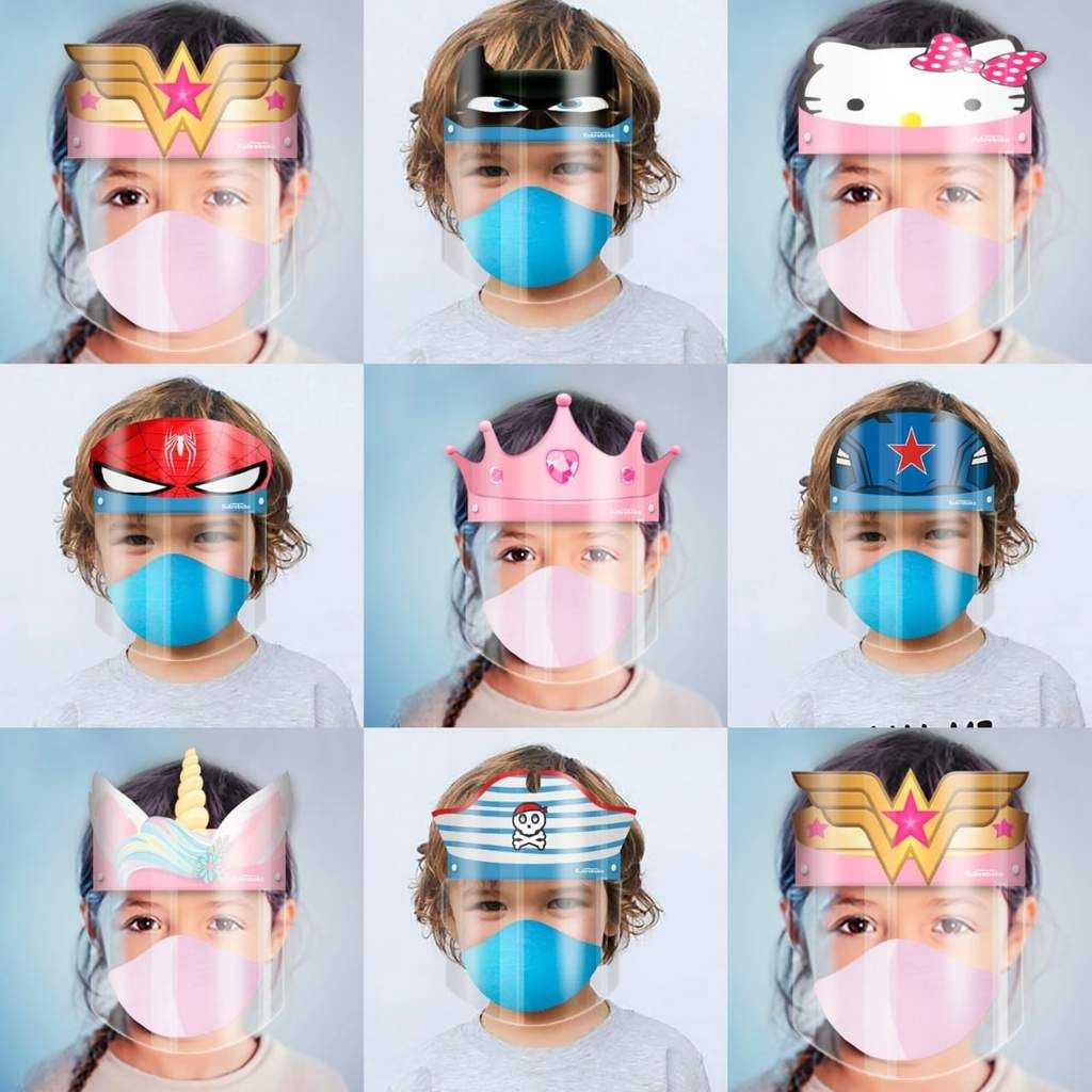 Character Face Shield Package for Kids Available June