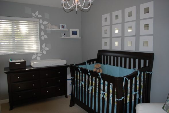 Grey Nursery Black Furniture