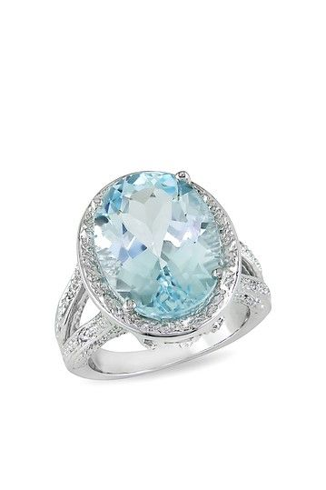 Zales Oval Sky Blue Topaz and Rose Quartz with White Topaz Three Stone Frame Ring in Sterling Silver 1m56NB5