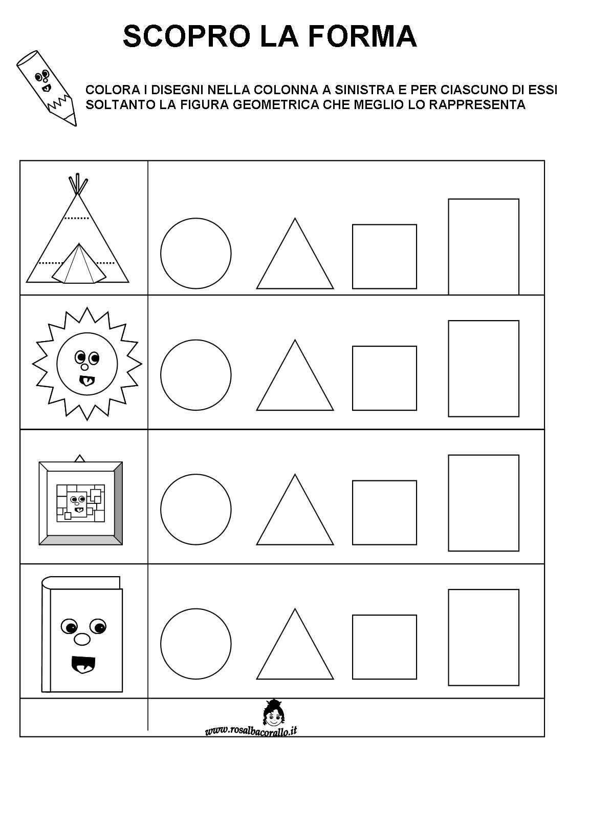Schede Didattiche Figure Geometriche Per Bambini Di 4 5