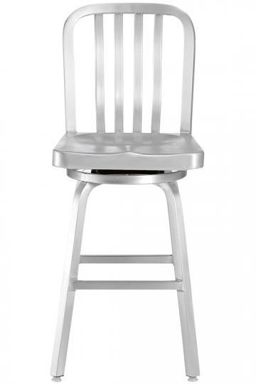 Aluminum swivel stool