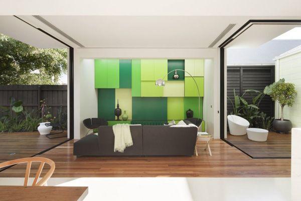 Light filled home open to the outdoors Shakin Stevens House - cuisine verte et blanche