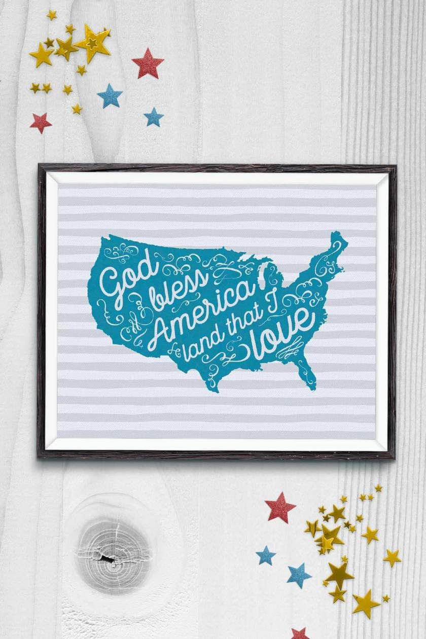 Free 4th of July Printable 4th of july, Independence day