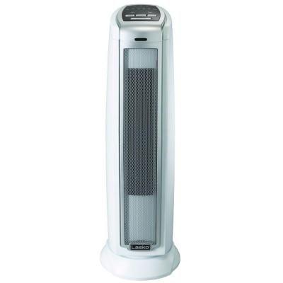 Lasko 23 In 1500 Watt Digital Oscillating Ceramic Tower Heater White 5775 Tower Heater Ceramics Portable Heater