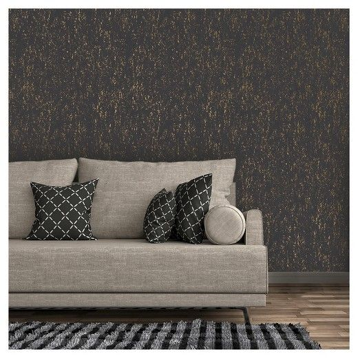 Devine Color Metallic Texture Peel And Stick Wallpaper Black And Karat Target Peel And Stick Wallpaper Peel N Stick Wallpaper Wallpaper
