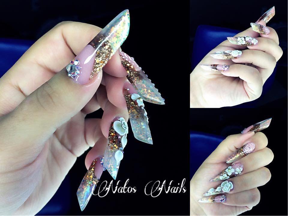 Vintage Nails | Almendra Rusa | Natos Nails | Uñas Acrilicas ...