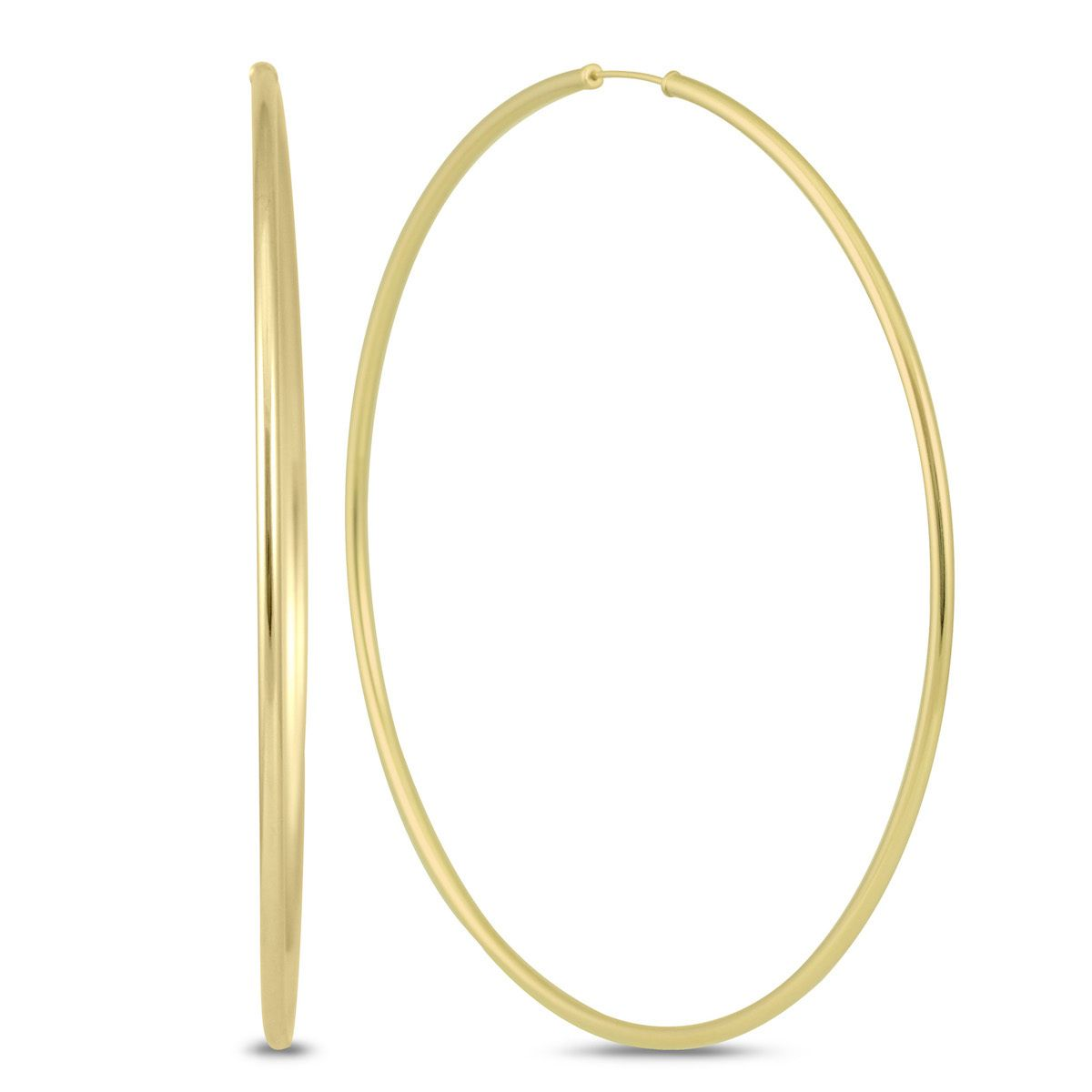 Marquee Jewels 14k Gold 80millimeter Endless Hoop Earrings