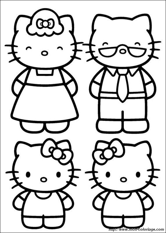 Picture The Family Of Hello Kitty Hello Kitty Colouring Pages