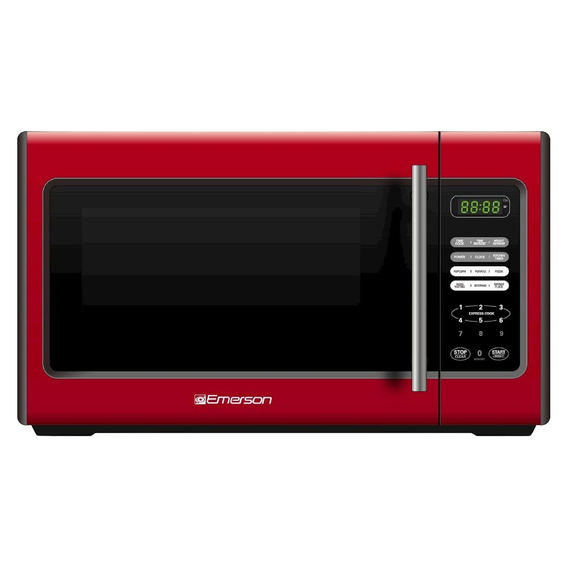 Microwave Perfect For Cooking The Finest Dorm Room Cuisine Frozen Dinners Reheating Leftovers Popcorn Etc Emerson Oven Red