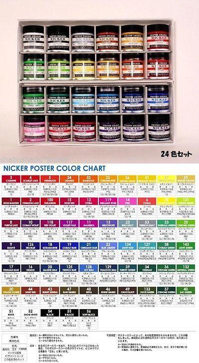 Gouache 134558 New Anime Nicker Gouache Poster Color Paint 40ml