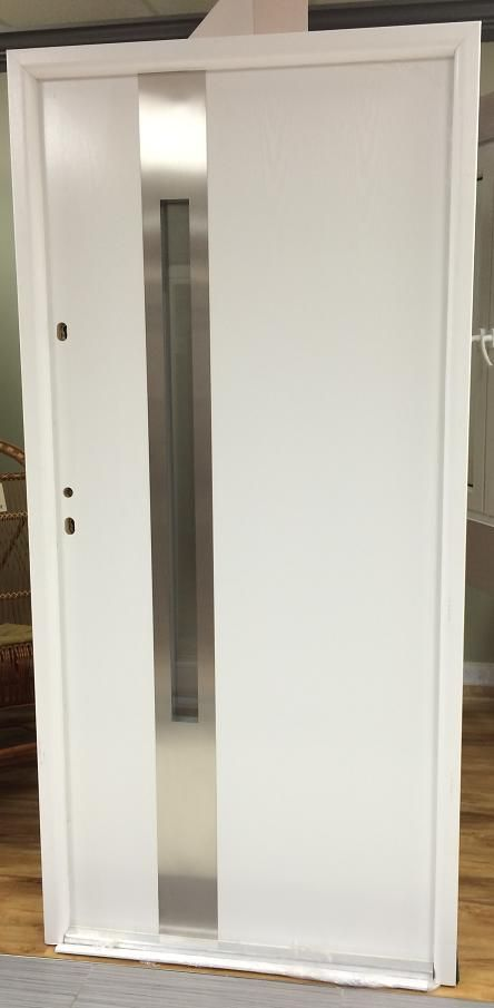 modern style contemporary steel exterior door with glass the door is finished with a pvc