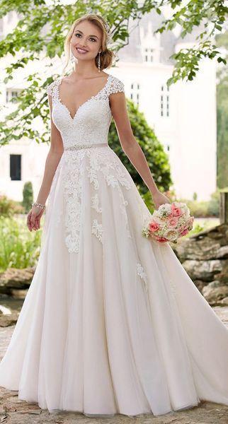 Top 10 con cuello en V vestido de escote / vestido de novia | Schonheit.info