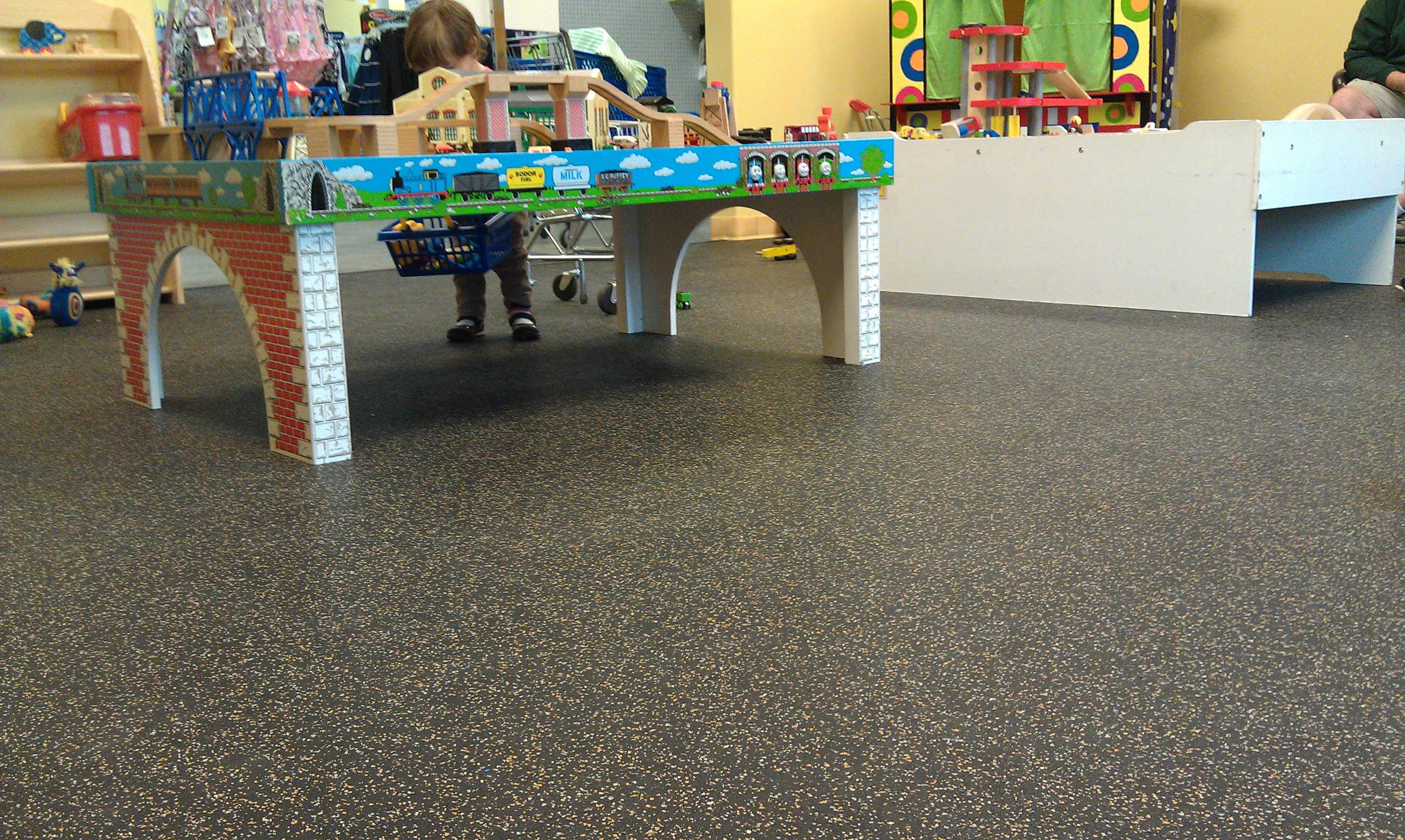 Recycled Rubber Flooring Used In A Play Area At A Children S Store