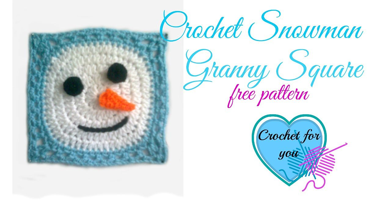 Ravelry: Snowman Granny Square by Erangi Udeshika
