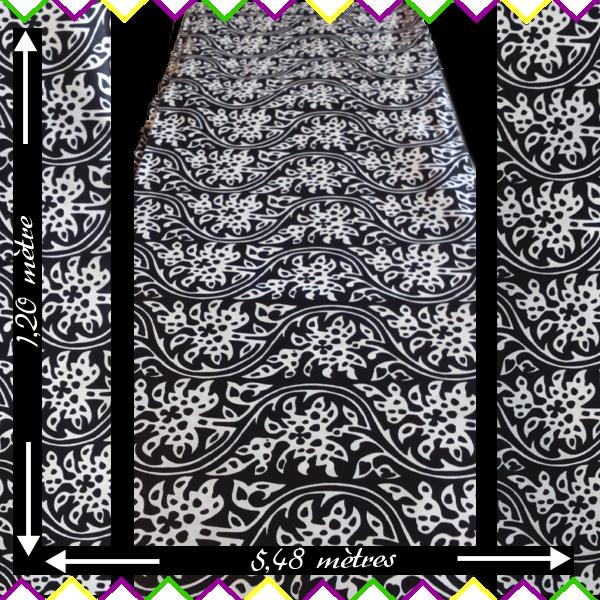 Tissu Coton Wax Fleuri Imprime Rouleau Tissu Pagne Wax Africain Noir Et Blanc Motif Fleuri Tissu Coton Tissu Deco Ethnique