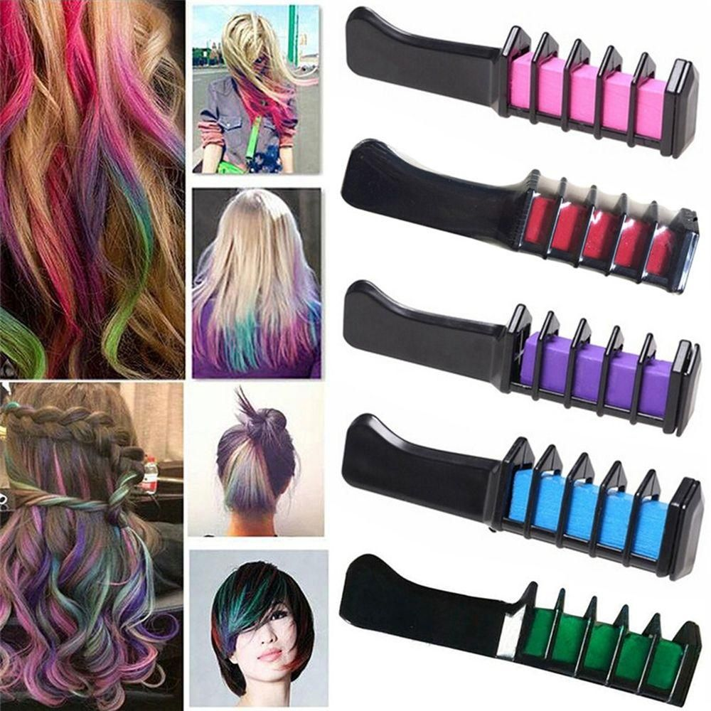 Wash Out Hair Dye Combs Chalk Dyeing Tool Wash Out Hair Dye Hair Chalk Temporary Hair Dye