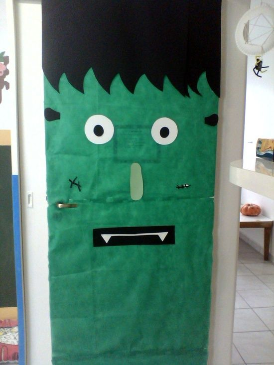 Frankenstein Classroom Door Decoration Idea Halloween Crafts - halloween decoration themes