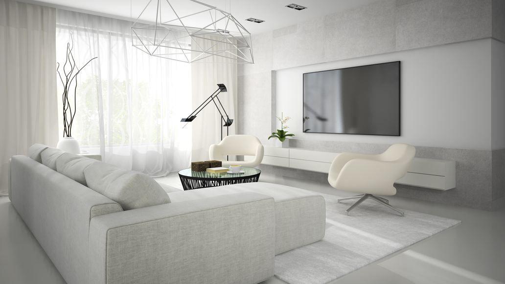 Wohnzimmer Weiss Modern - Wohndesign -