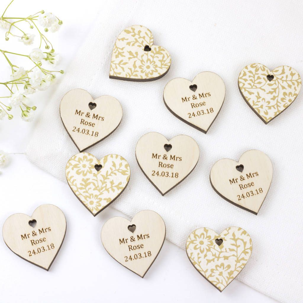 Wedding Favour Hearts Personalised | Favors, Spring weddings and ...