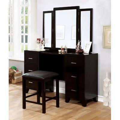 A&J Homes Studio Enrico Vanity with Mirror