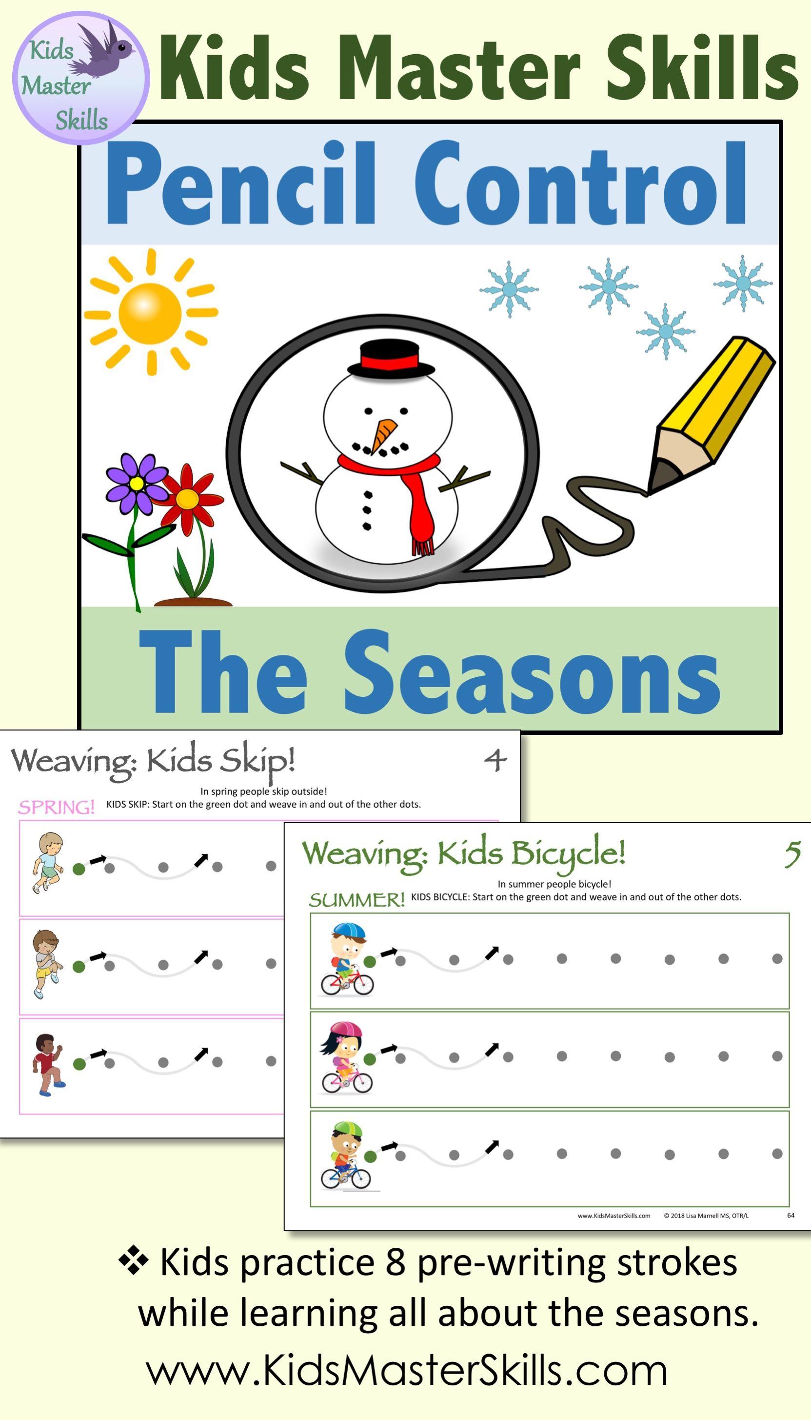 Pencil Control Skills Teaching Handwriting Kindergarten Handwriting Writing Skills Writing skills for kindergarten