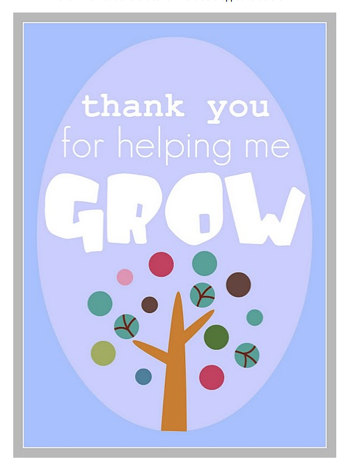 Frugal Life Project: Teacher Appreciation Idea with Free Printable!