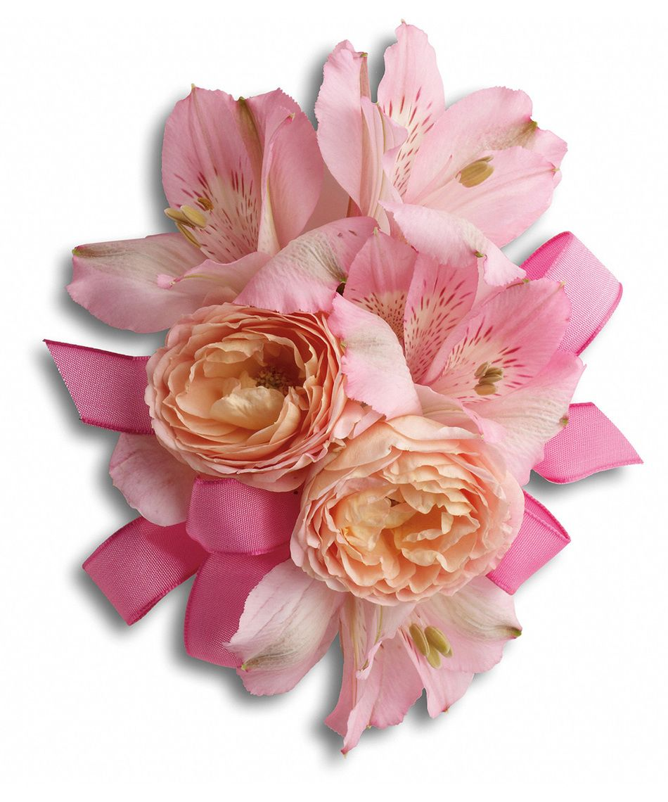 So Pretty In Pink Roses With Delicate Pink Alstroemeria