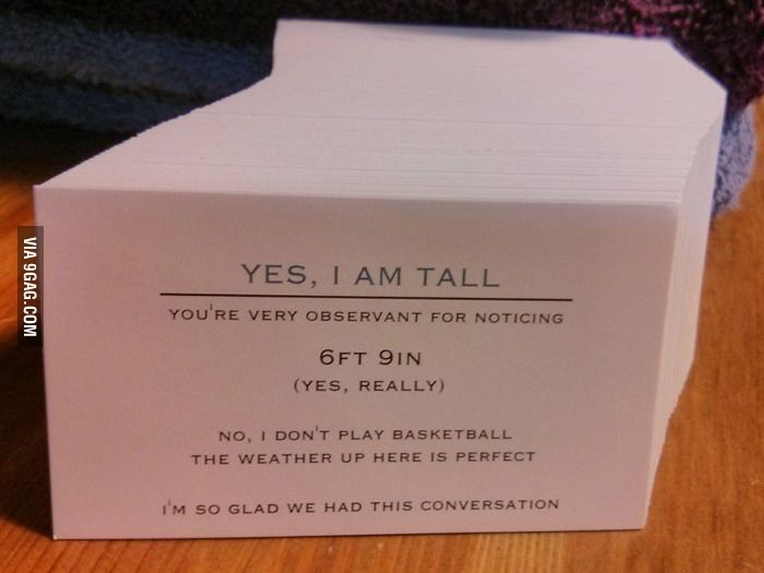 Business Cards For Tall People Funny Business Cards Business Cards Creative Super Funny